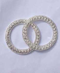 Crystal Rings - Double Diamond - Silver